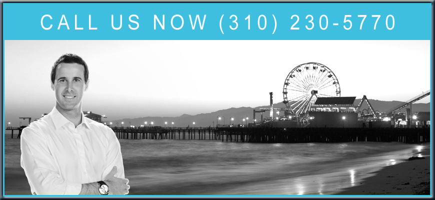 personal injury lawyer in front of Santa Monica beach pier in California