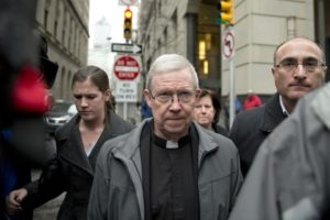 Clergy convicted of abuse leaves court as abuse victims lawyers